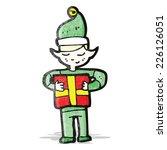 cartoon christmas elf | Shutterstock .eps vector #226126051