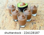 chocolate avocado pudding | Shutterstock . vector #226128187
