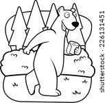 a happy cartoon bear in the... | Shutterstock .eps vector #226131451