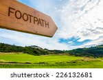 Footpath Direction Sign In...