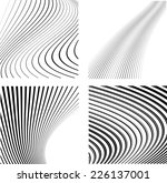 abstract vector  wave stripes . ...