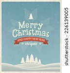 christmas greeting card design. ... | Shutterstock .eps vector #226139005