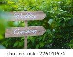 wedding wood sign | Shutterstock . vector #226141975