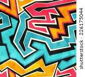 grunge graffiti seamless... | Shutterstock . vector #226175044