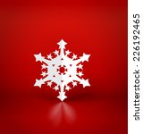 christmas postcard with origami ... | Shutterstock .eps vector #226192465