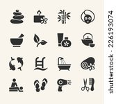 spa icons collection  stock... | Shutterstock .eps vector #226193074