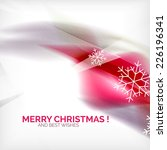 pink color christmas blurred... | Shutterstock . vector #226196341