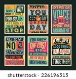 set of retro vintage... | Shutterstock .eps vector #226196515