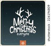 retro vintage merry christmas... | Shutterstock .eps vector #226196809