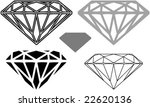 the diamond  shape and cutting  ... | Shutterstock .eps vector #22620136