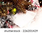 christmas background with a...   Shutterstock . vector #226201429