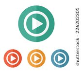play button web icon   flat... | Shutterstock .eps vector #226202305