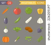 vegetables symbols healthy and... | Shutterstock .eps vector #226205197