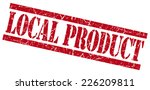 local product red grungy stamp... | Shutterstock . vector #226209811