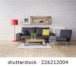 modern 3d illustration interior ... | Shutterstock . vector #226212004
