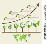 ecology infographics design... | Shutterstock .eps vector #226212841