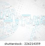 abstract technological... | Shutterstock .eps vector #226214359