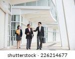 asian busines team outdoor... | Shutterstock . vector #226214677