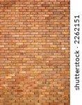 A large brick wall - stock photo
