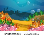 illustration of under the sea... | Shutterstock .eps vector #226218817