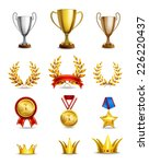 ranking icons set of different... | Shutterstock .eps vector #226220437
