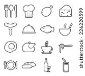 food icons set | Shutterstock .eps vector #226220599