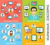mobile health online medical... | Shutterstock .eps vector #226220941