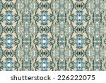 pattern on fabric | Shutterstock . vector #226222075