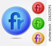 fr sign icon | Shutterstock .eps vector #226225291