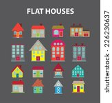 flat houses  buildings icons ... | Shutterstock .eps vector #226230637