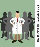 doctor in front of his medical... | Shutterstock .eps vector #226236961
