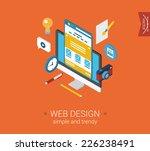 web design website interface...   Shutterstock .eps vector #226238491