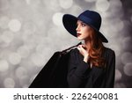 style redhead girl with... | Shutterstock . vector #226240081