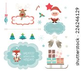 set of christmas vector... | Shutterstock .eps vector #226246129