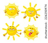 shining yellow sun cartoon... | Shutterstock .eps vector #226250974