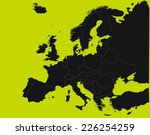 yellow silhouette of the... | Shutterstock .eps vector #226254259
