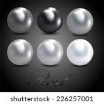 pearls | Shutterstock .eps vector #226257001