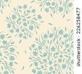 vector modern floral seamless... | Shutterstock .eps vector #226258477