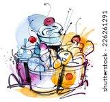 sundae meal | Shutterstock .eps vector #226261291