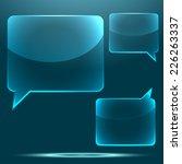 transparent glossy glass speech ... | Shutterstock . vector #226263337
