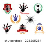 set of colored emblems and... | Shutterstock .eps vector #226265284