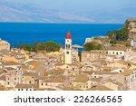 corfu august 22  corfu city and ... | Shutterstock . vector #226266565