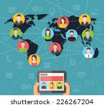 social media network connection ... | Shutterstock .eps vector #226267204