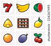 vector slot machine icons | Shutterstock .eps vector #226267495