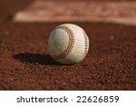 baseball on the green grass of... | Shutterstock . vector #22626859