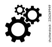 cogwheel gear mechanism vector...