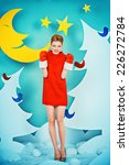 attractive young woman in... | Shutterstock . vector #226272784