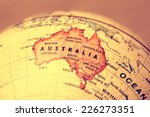 australia  on atlas world map | Shutterstock . vector #226273351