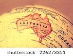 Small photo of Australia on atlas world map