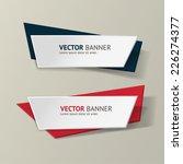 vector infographic origami... | Shutterstock .eps vector #226274377